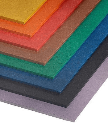 Colour MDF  Colour MDF For design-centric applications, Colour MDF is produced using organic dyes that are impregnated into the wood fibres during the production process. This allows for a homogeneous colour distribution throughout the entire board. The colour throughout the board is retained regardless of whether it is sanded, cut, routed or machined.Colour MDF is manufactured using a moisture-resistant resin, giving it exceptional physical and mechanical properties. The panel has higher moisture resistance compared to regular MDF and has up to 30% greater strength.